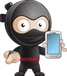 Cute Simple Style Ninja Cartoon Vector Character AKA Ami - Smartphone 2