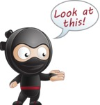 Cute Simple Style Ninja Cartoon Vector Character AKA Ami - Showcase 1