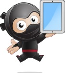 Cute Simple Style Ninja Cartoon Vector Character AKA Ami - Tablet 2
