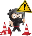 Cute Simple Style Ninja Cartoon Vector Character AKA Ami - Under Construction 2
