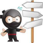 Cute Simple Style Ninja Cartoon Vector Character AKA Ami - Crossroads
