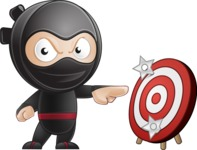 Cute Simple Style Ninja Cartoon Vector Character AKA Ami - Target