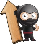 Cute Simple Style Ninja Cartoon Vector Character AKA Ami - Pointer 2