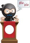 Cute Simple Style Ninja Cartoon Vector Character AKA Ami - Speaker 2