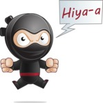 Cute Simple Style Ninja Cartoon Vector Character AKA Ami - Ninja Power 1