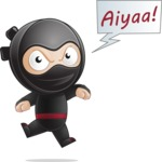 Cute Simple Style Ninja Cartoon Vector Character AKA Ami - Ninja power 2