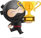 Cute Simple Style Ninja Cartoon Vector Character AKA Ami - Winner 2