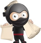 Cute Simple Style Ninja Cartoon Vector Character AKA Ami - Plans