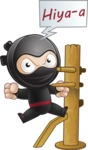 Cute Simple Style Ninja Cartoon Vector Character AKA Ami - Training