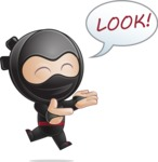 Cute Simple Style Ninja Cartoon Vector Character AKA Ami - Show 2