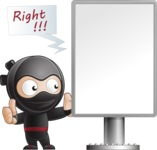 Cute Simple Style Ninja Cartoon Vector Character AKA Ami - Presentation 1