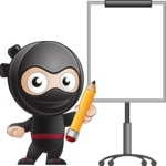 Cute Simple Style Ninja Cartoon Vector Character AKA Ami - Presentation 4