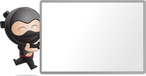 Cute Simple Style Ninja Cartoon Vector Character AKA Ami - Presentation 6