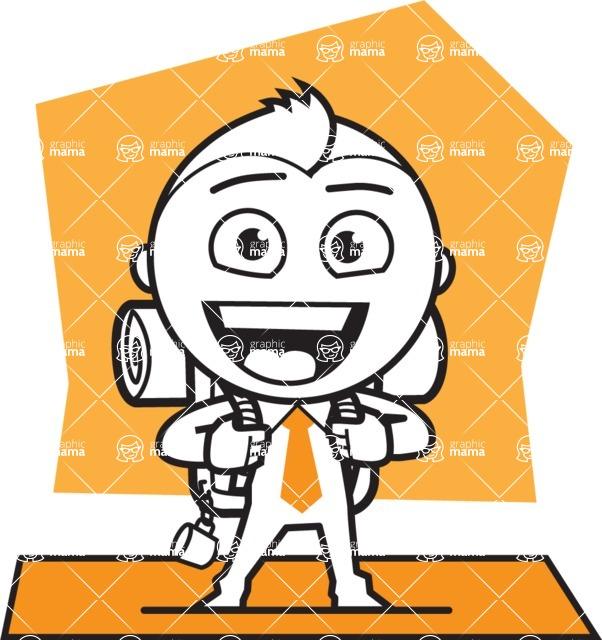 outline vector cartoon character - shape 9