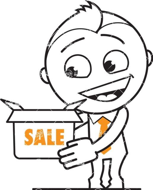 outline vector cartoon character - Sale