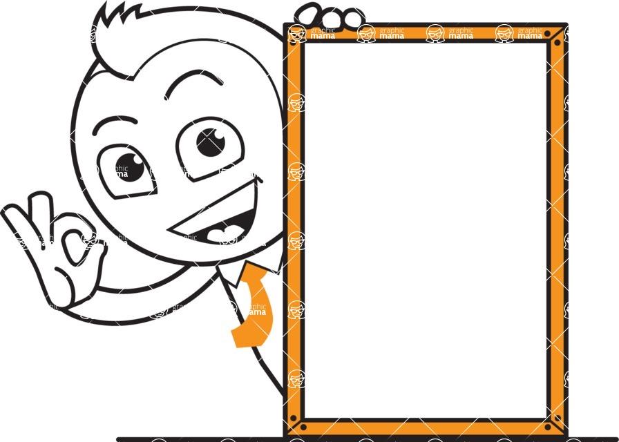 outline vector cartoon character - Presentation 4