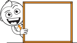 outline design silhouette vector cartoon character - Innovator Joe - Presentation 5