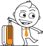 outline vector cartoon character - Travel 1