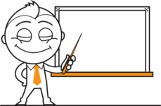 outline vector cartoon character - Presentation 3