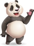 Cute Panda Vector Cartoon Character - Feeling Bored