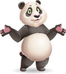 Cute Panda Vector Cartoon Character - Feeling Confused