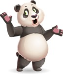 Cute Panda Vector Cartoon Character - Feeling Lost