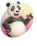 Cute Panda Vector Cartoon Character - Shape 1