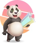 Cute Panda Vector Cartoon Character - Shape 10