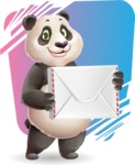 Cute Panda Vector Cartoon Character - Shape 11