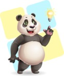 Cute Panda Vector Cartoon Character - Shape 12
