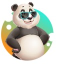 Cute Panda Vector Cartoon Character - Shape 2