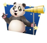 Cute Panda Vector Cartoon Character - Shape 4