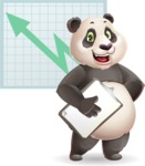 Cute Panda Vector Cartoon Character - Shape 6