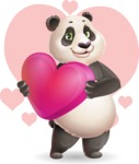 Cute Panda Vector Cartoon Character - Shape 7