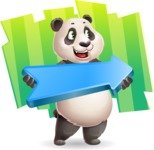 Cute Panda Vector Cartoon Character - Shape 8