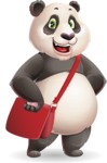 Cute Panda Vector Cartoon Character - Traveling