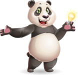 Cute Panda Vector Cartoon Character - with an Idea