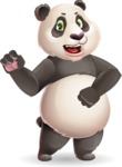 Cute Panda Vector Cartoon Character - with Angry face