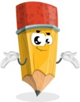 School Pencil Cartoon Vector Character AKA Mark McPencil - Feeling Sorry