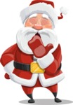 Santa Claus Cartoon Vector Character AKA Mr. Claus North-pole - Being Bored