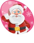 Santa Claus Cartoon Vector Character AKA Mr. Claus North-pole - Being Funny Illustration Concept