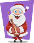 Santa Claus Cartoon Vector Character AKA Mr. Claus North-pole - Celebrating Illustration
