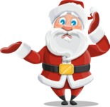 Santa Claus Cartoon Vector Character AKA Mr. Claus North-pole - Feeling Confused