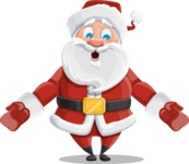 Santa Claus Cartoon Vector Character AKA Mr. Claus North-pole - Feeling Lost