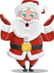 Santa Claus Cartoon Vector Character AKA Mr. Claus North-pole - Feeling Shocked