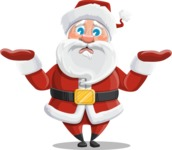 Santa Claus Cartoon Vector Character AKA Mr. Claus North-pole - Feeling Sorry