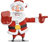 Santa Claus Cartoon Vector Character AKA Mr. Claus North-pole - Finger Pointing with Angry Face