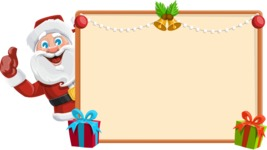 Santa Claus Cartoon Vector Character AKA Mr. Claus North-pole - Making a Christmas Presentation Template
