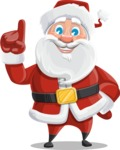 Santa Claus Cartoon Vector Character AKA Mr. Claus North-pole - Making a Point