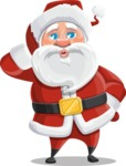 Santa Claus Cartoon Vector Character AKA Mr. Claus North-pole - Making a Selfie